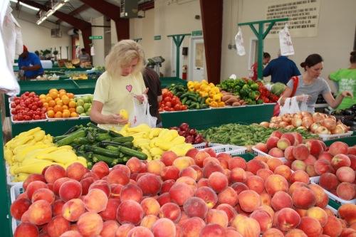 Peaches veggies and more